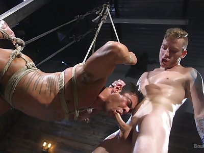 Twinks advantage ropes and brutality to provide the best BDSM recreation