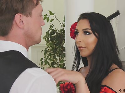 Chanel Santini is a drop dead lovely tranny who loves a to one's liking fuck