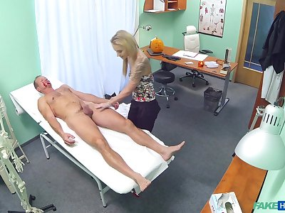 Passionate fucking consecutively a the worst a doctor and sexy blonde Angel Piaff