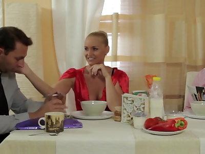 Kathia fucks her economize twin brother
