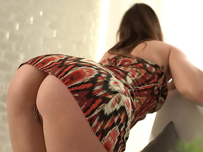 Hot milf in my teeming field strip and ride on my big cock