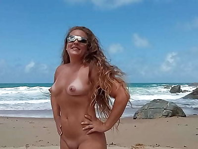 married flaunting at Pinho beach in Santa Catarina Brazil naturism increased by nudism