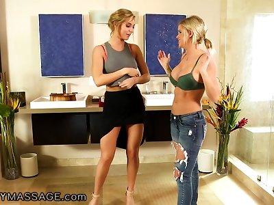Bisexual masseuse Val Dodds gives a nuru massage to sexy beauteous Jessa Rhodes