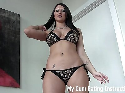 I am going hither milk two loads of cum get a kick from you JOI