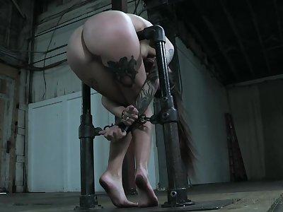 Big ass newborn becomes a toy of a strict BDSM master