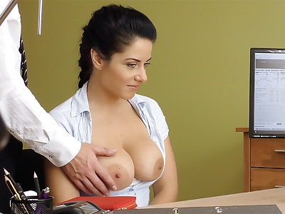 Humungous naturals dark-haired poke anal invasion for premises approval