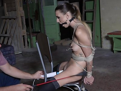 Submissive young girl in scenes of brutal sex
