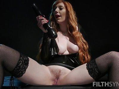 Black vibrator can please the sexual desires of amazing Lauren Phillips