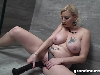 Special toy solo for the busty explicit upon a creamy pussy