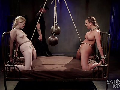 Submissive whores leave their master forth dominate their asses