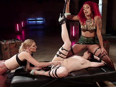Mistress Daisy Ducati humiliates their way one slaves and fists them