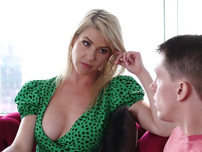 Stepmom's MILF pussy is the best cure for a young man's flicker heart