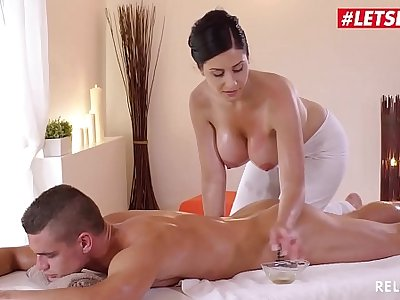 LETSDOEIT - Czech MILF Takes Young Big Flannel On Hot Massage Sex (Alex Black & Max Dior)